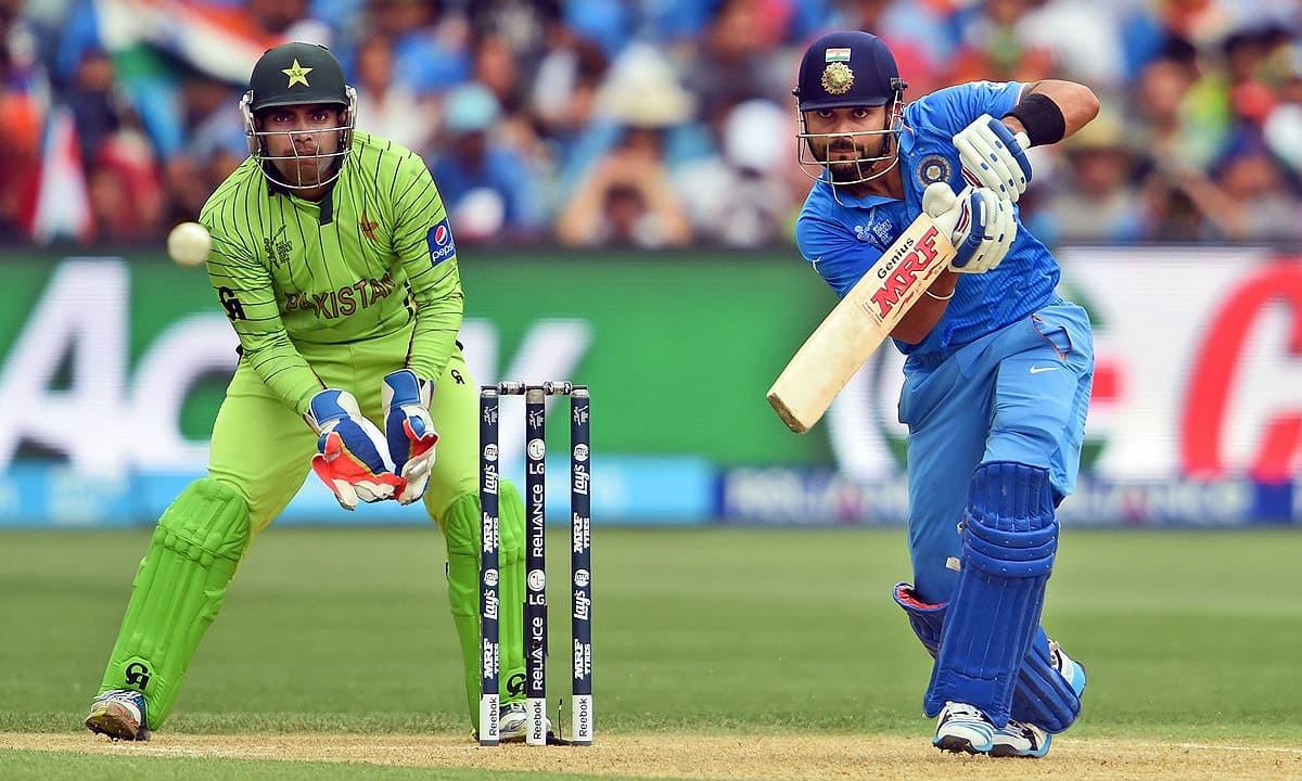 File Pic of India-Pakistan cricket match.