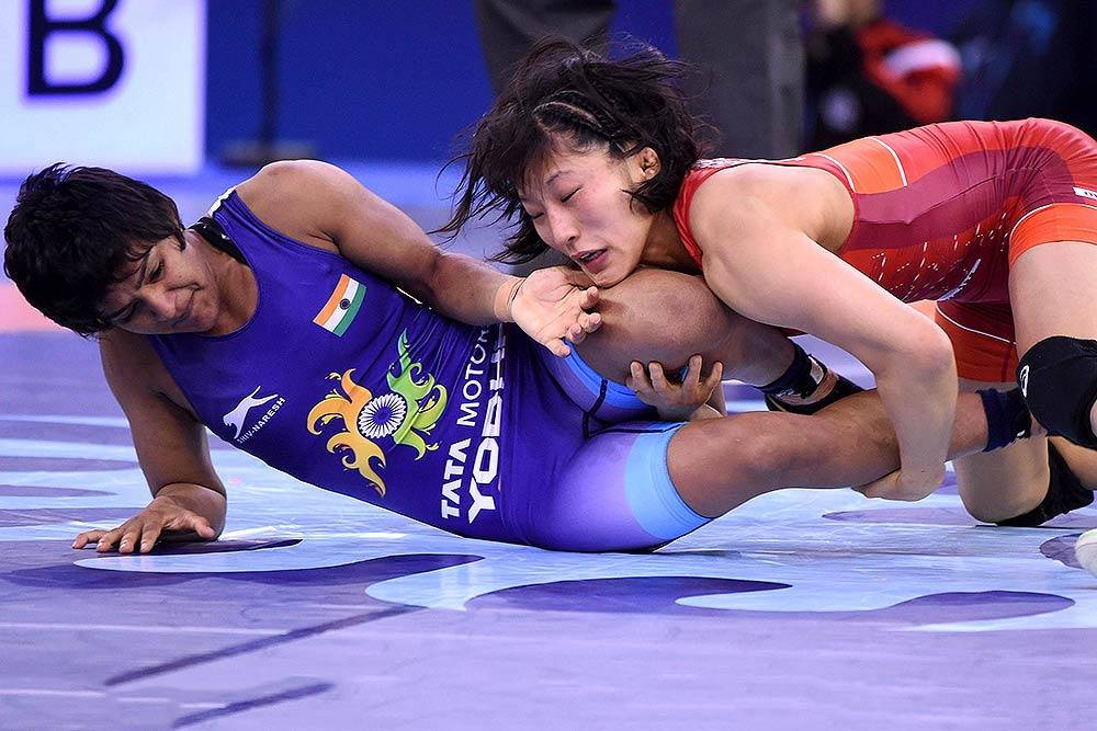 United World Wrestling took the action after IOC suspended discussions with India over hosting of global events. (@BajrangPunia Photo)