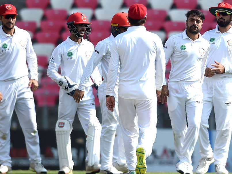 Rashid Khan claimed his maiden five-wicket haul (5/82) in Test cricket.