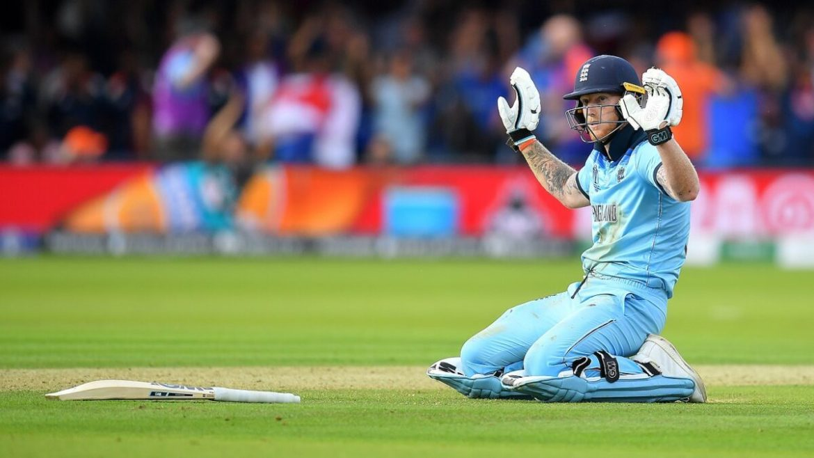 England's Ben Stokes in action in the final. Reuters