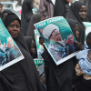 Members of Islamic Movement of Nigeria, a Shia group, demand the release of the group's leader, Sheik Ibrahim Zakzaky, who was arrested on December 14, 2015.